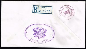 GHANA 1960 ROME ITALY OLYMPIC  FDC