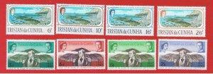 Tristan da Cunha #104-107 #109-112  MNH OG  2 sets 1967 Free S/H