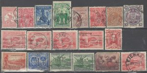 COLLECTION LOT # 2600  AUSTRALIA 18 STAMPS 1913+ CV+$31 (#C5  FAULTY) CLEARANCE