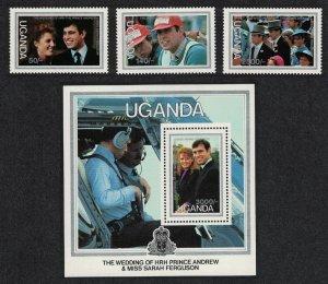 Uganda Royal Wedding Prince Andrew 3v+MS SG#535-MS538