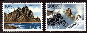 ICELAND 728, 737 USED SCV $3.80 BIN $1.50 LANDSCAPES
