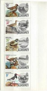 Alderney 13-17 MNH VF Birds