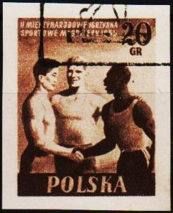 Poland. 1955 20g (Imperf.) S.G.939 Fine Used