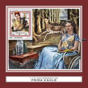 Sao Tome & Principe Art Stamps 2017 MNH Frida Kahlo Paintings 1v S/S
