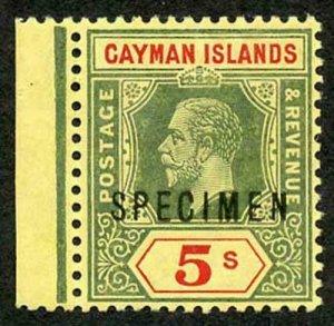 Cayman Is SG51s 5/- Opt SPECIMEN m/m