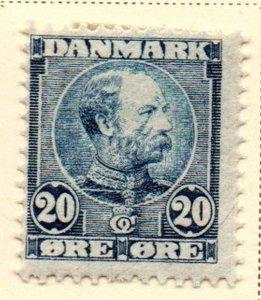 Denmark Sc 66 1904 20 ore Christian IX blue stamp mint