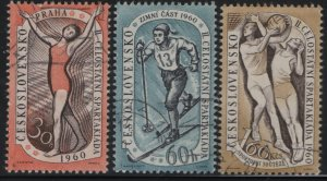 Czechoslovakia, 955-957, (3) SET,  USED, 1960 Various sports