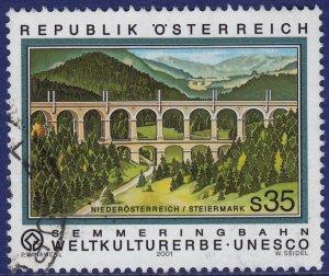Austria - 2001 - Scott #1845 - used - Semmering Railway