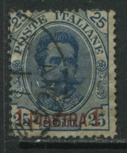 Italy Offices in Crete overprinted 1 piastra on 25¢ used
