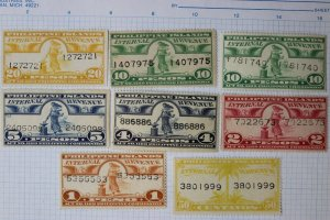 Philippines Revenue W630b 639b 640bC 642A 643A 644bC 644aA 645A type MH MNG lot