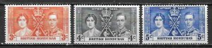 British Honduras 112-4 1937 KGVI Coronation set MNH