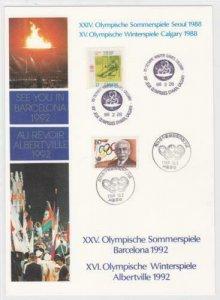 calgary and korea 1988  seoul  olympics stamp page ref r16016