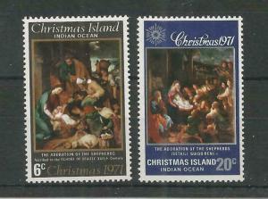 CHRISTMAS ISLAND 1971 CHRISTMAS SG,35-36 U/M