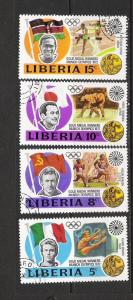 LIBERIA 616-20 VFU OLYMPIADS A592