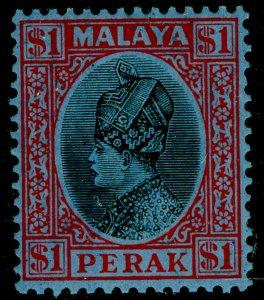 MALAYSIA - Perak SG100, $1 black & red/blue, NH MINT.