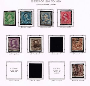 US STAMP 19th OLD USED STAMP COLLECTION LOT #S3