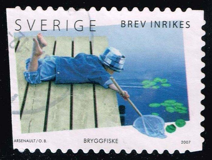 Sweden #2563a Boy on Dock; Used (1.60)