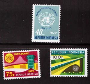 Indonesia  Scott 813-815 MH* stamp set