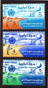 KUWAIT 272-274 MNH SCV $2.45 BIN $1.50 METEOROLOGY