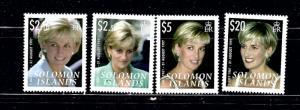 Solomon Is 1096-99 MNH 2007 Princess Diana