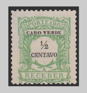 CAPE VERDE 1921 SCOTT # J21. UNUSED. # 1