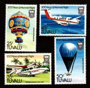 Tuvalu 208-211 Mint NH MNH 200 Years Manned Flight!