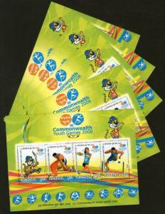 India 2008 Commonwealth Youth Games Badminton Wrestling Hurdle Sc 2260e M/s X...