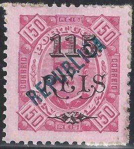 Angola 1914 SC 177 / Mun 172 NGAI SCV $375.00