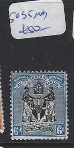 BRITISH CENTRAL AFRICA (PP1203B)  ARMS  6D  SG 35   MOG