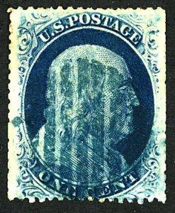 U.S. #24 USED BLUE CANCEL
