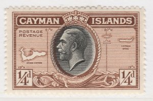 British Colony Cayman Islands 1935 1/4d MH* Stamp A22P19F8944