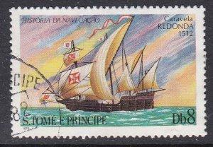 St. Thomas and Prince Islands #538 F-VF Used Caravel Redonda