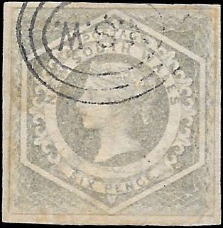 1854 NEW SOUTH WALES SC# 27 USED ng CV $160 SOUND