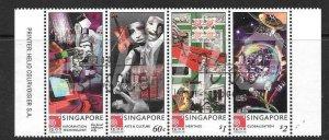 SINGAPORE SG1027/30 2000 NEW MILLENNIUM 2st ISSUE FINE USED