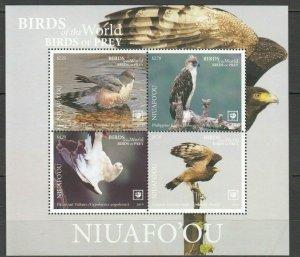 Niuafo'ou 2019 birds of prey eagles s/s MNH michel bl 87 16 euro