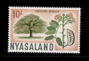 NYASALAND PROTECTORATE QEII SG209, 10s green, orange-brown and black, NH MINT.