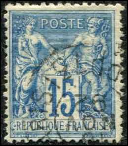 France SC# 103 Peace & Commerce 15c  Used SCV $0.80