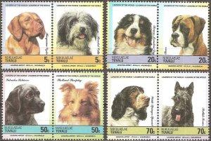Tuvalu Nukulaelae MNH 35-8 Pairs Dogs Full Set 1985