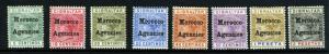 Morocco Agencies 1899 Queen Victoria optd set, MH (SG#9/16)