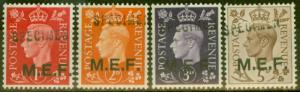 Middle East Forces 1942 Specimen set of 4 SGM1s-M5s V.F MNH