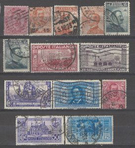 COLLECTION LOT # 3719 ITALY 1879+ 13 STAMPS 1879+ CV+$20