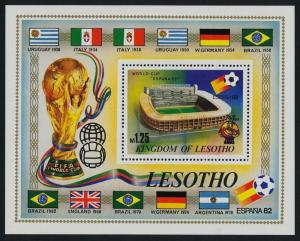Lesotho 364 MNH World Cup Football, Stadium, Flags