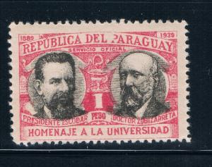 Paraguay 352 MNH President Escobar (GI0195)+