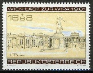 Austria 1979, Stamp Exhibition WIPA 1981 VF MNH, Mi 1629 3,8€