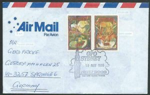 AUSTRALIA 1993 cover to Germany - nice franking - Sydney pictorial pmk.....12807