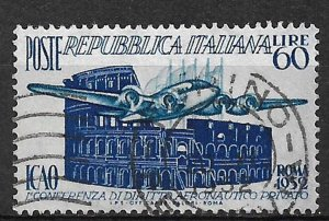 COLLECTION LOT OF # 841 ITALY # 611 1952