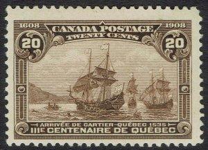 CANADA 1908 TERCENTENARY 20C