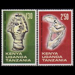 KENYA UGANDA TANGANK 1967 - Scott# 178-9 Archaeology 1.3-2.5s NH