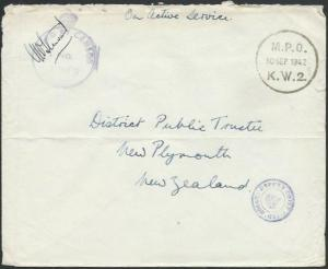 NEW ZEALAND FORCES IN EGYPT 1942 censor cover to NZ........................64649