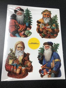 Santa's 20 Postal Stamped Cards 4 designs Ready-To-Mail Postal Cards